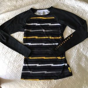 Nike Pro fitted livestrong long sleeve Size S